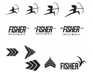 Evolution of the Fisher logo