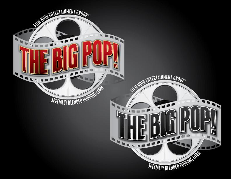 Logo design for popcorn brand
