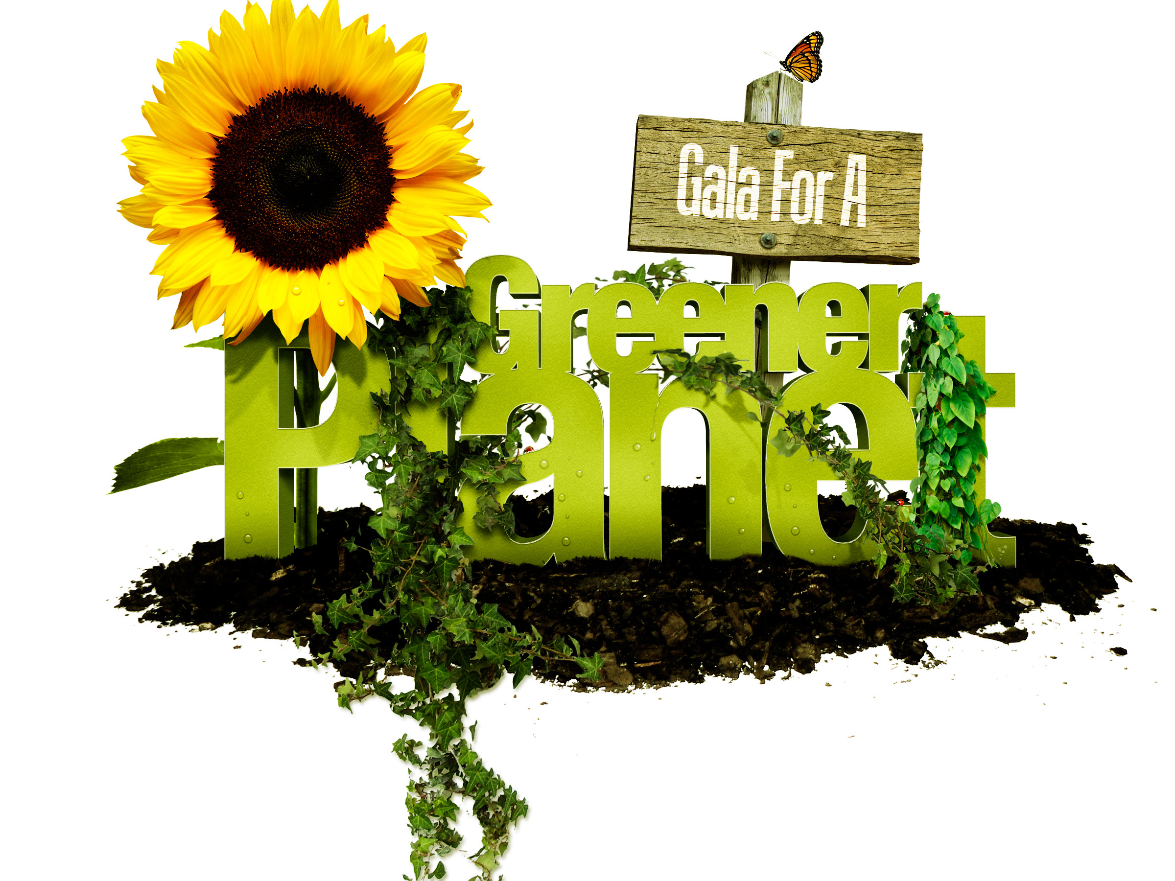 Gala for a Greener Planet postcard