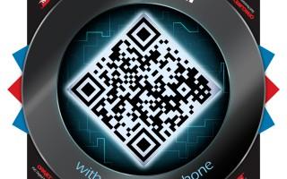 QR Code floor graphic