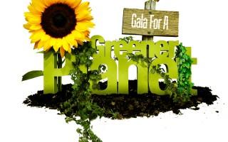 Gala for a Greener Planet postcard